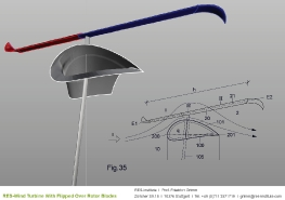 Turbine mit einem Wendeflügel_24