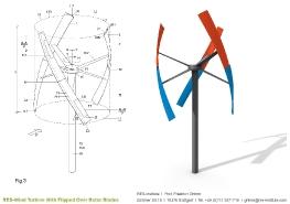Turbine mit einem Wendeflügel_2